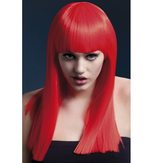 Alexia luxury wig with bangs red
