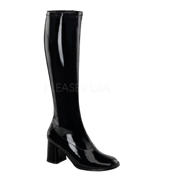 Disco boots black Pleaser