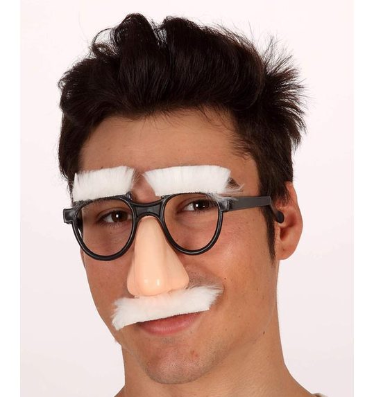 Glasses with nose, mustache and eyebrows
