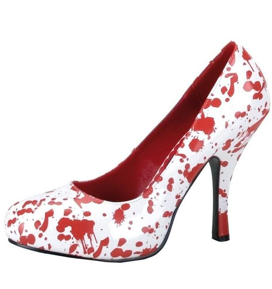 Halloween pumps with blood