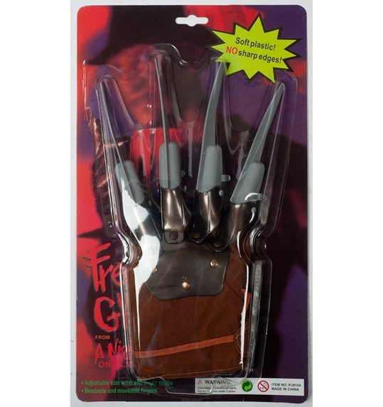Horror glove with knives