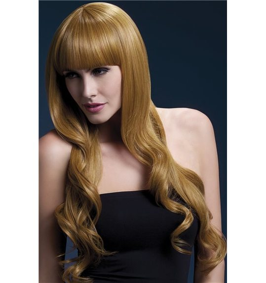 Luxurious wig brown 71 cm with light curl Yasmin