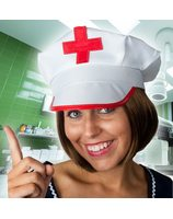Nurse/doctor hat with red cross PWA2434