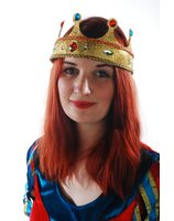 Plastic Crown gold Queen with glitter PWA3055