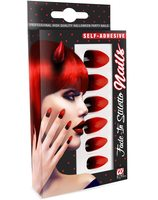 Red black halloween nails WI-05365