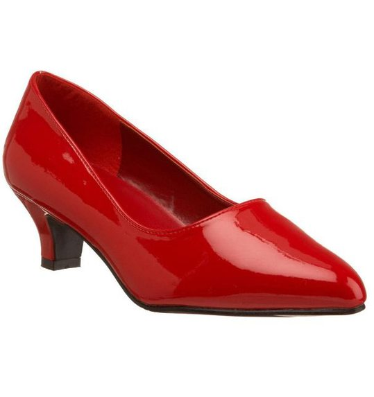 Red shoes with heel for men