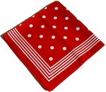 Red with white dots shawl handkerchief bandana