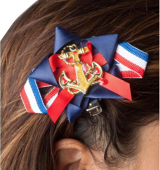 Sailor hairclips or shoeclips with bows