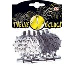 Silver Happy New Year Sounding Blow-Outs