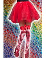 Thigh High pantyhose  green or red Strawberry pwa0036