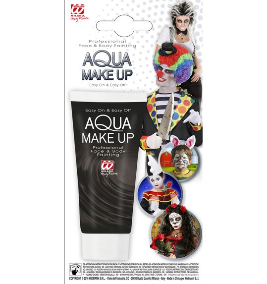 Water make up face paint tube black 30 ml