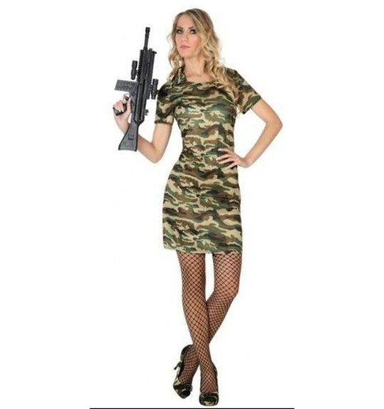 Army dress up costume for ladies with camouflage print