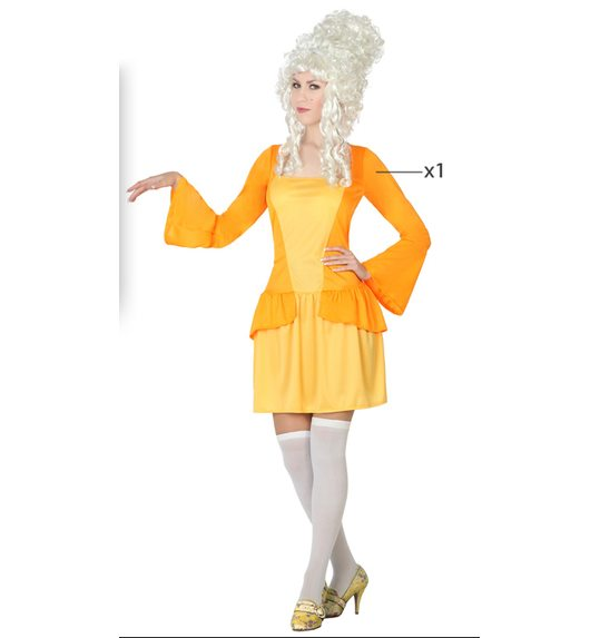 Courtesan yellow dress up costume for ladies