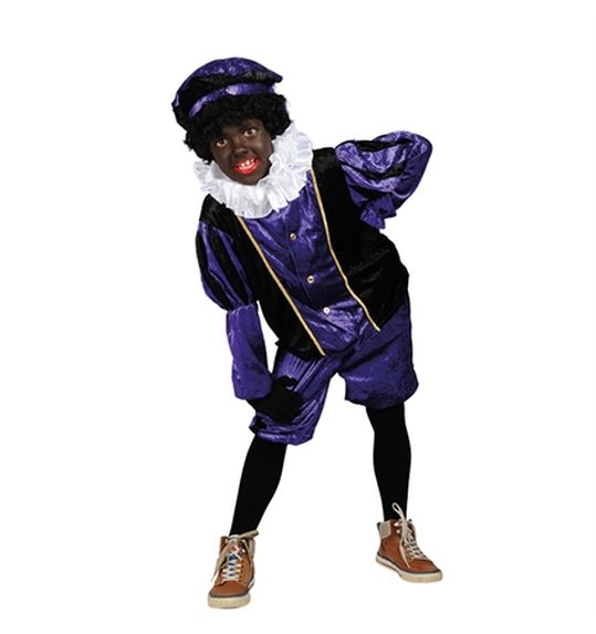 Custome Zwarte Piet purple kids