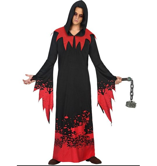 Halloween men costume spirit with blood