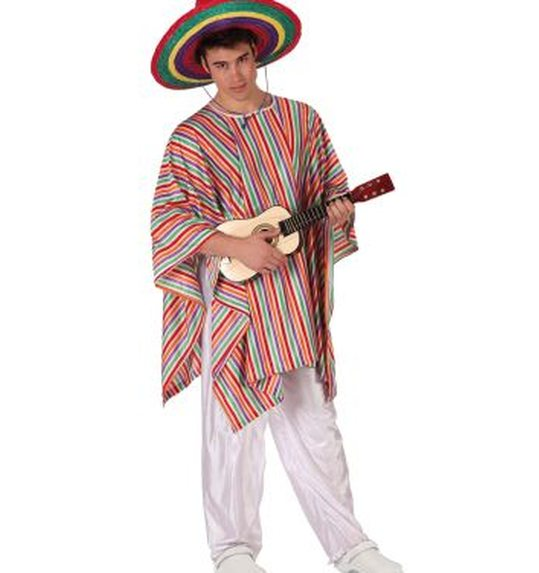 Mexican man suit and poncho size M-L