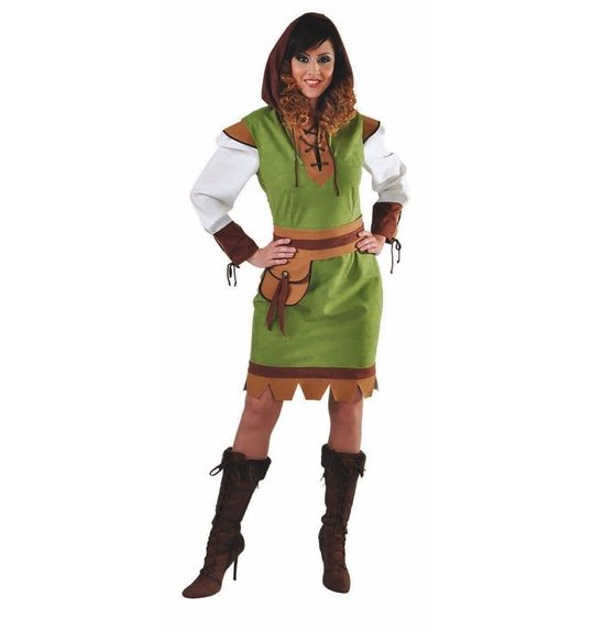 Robin ladies dress up costume with hood