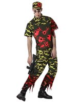 Zombie army costume halloween AT-14905/14904