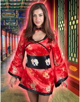 Robe Geisha sexy rouge Miss Wong LASK0555