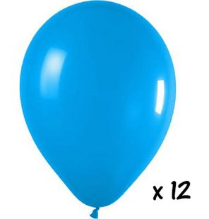 12 Turquoise balloons