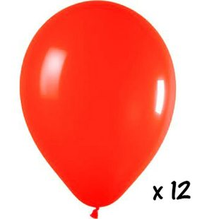 12 ballons rouges