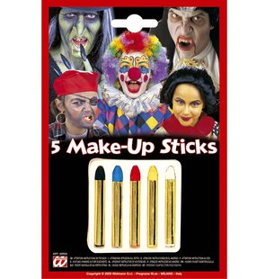5 make-up sticks