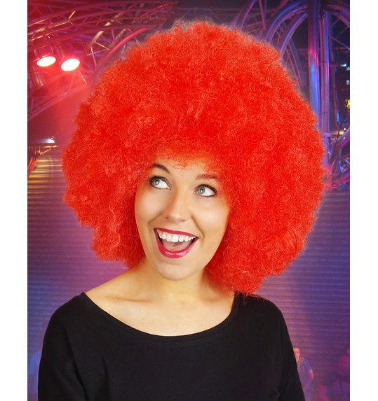 Afro perruque rouge