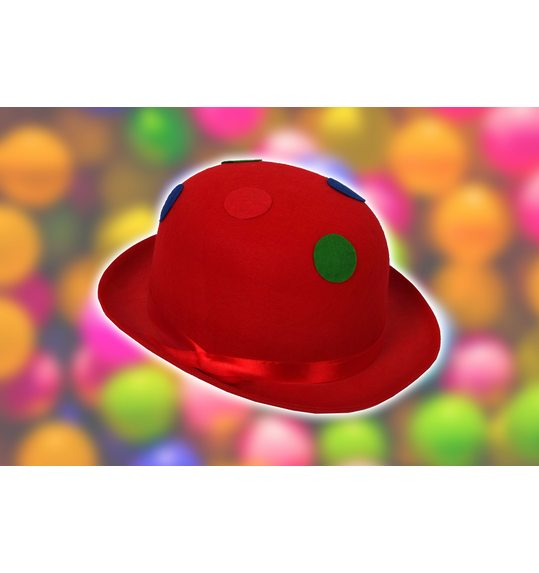 Chapeau de clown Dots rouge