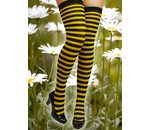 Collants motif abeille