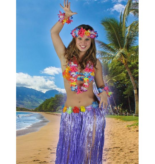 Hawaii jupe violet