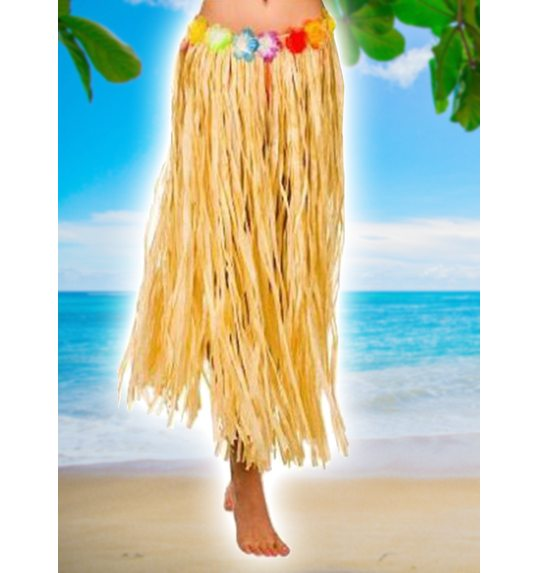 Jupe Hawaienne naturel XL 80 cm