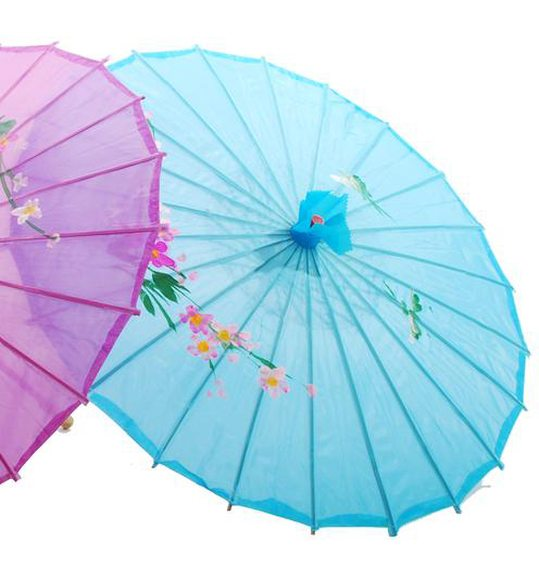Parapluie chinois turquoise