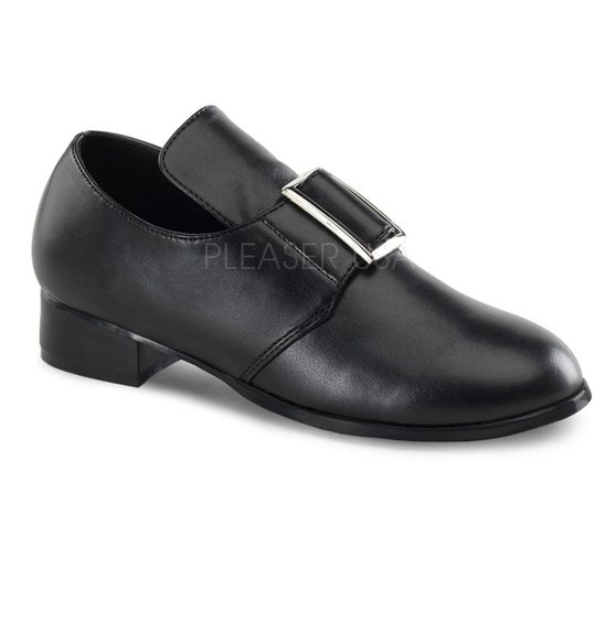 Black pilgrim shoes for kids