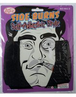Black sideburns (2 pieces) PWA2348