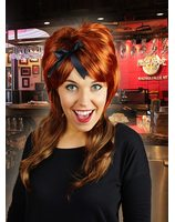 Brown wig with red accents PWP0117