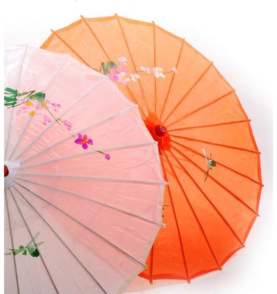 Chinese umbrella orange