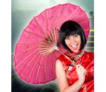 Chinese umbrella pink