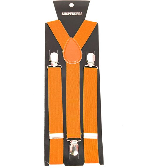 Classic orange suspenders