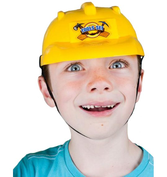 Construction workers helmet child