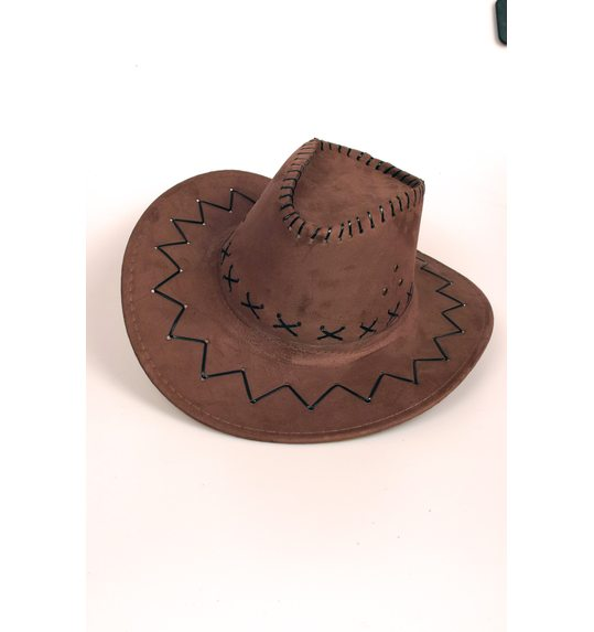 Cowboy hat brown deluxe