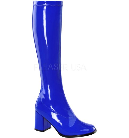 Disco/hippie boots navy blue Pleaser