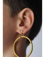 Earring large ring PWA0233