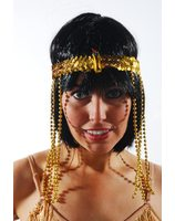 Egyptian gold headband with snake Cleopatra PWA3052
