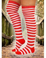 Fashion Knee stocking red white striped PWB0400RO