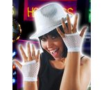 Fishnet gloves white