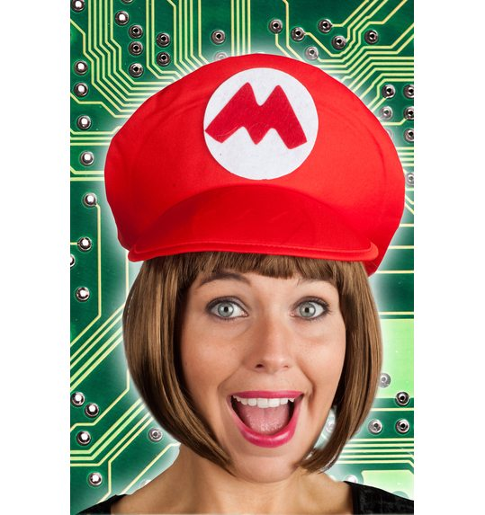 Game hat red Mario