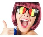 Glasses tricolore Belgian colours