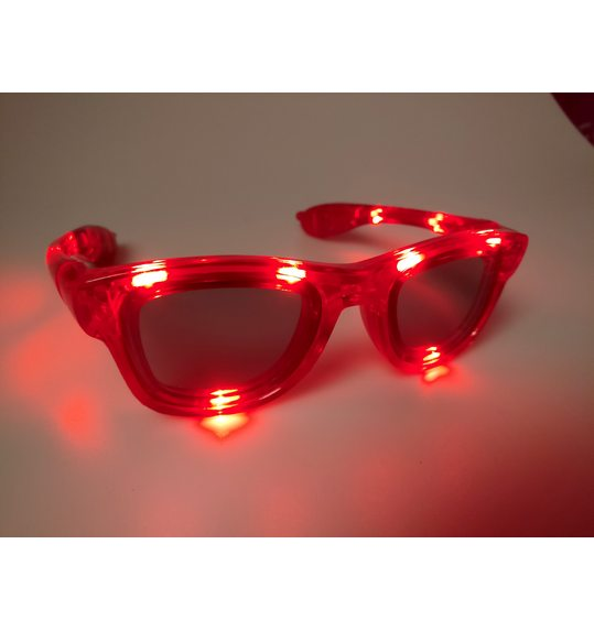 Glasses with lights funky red