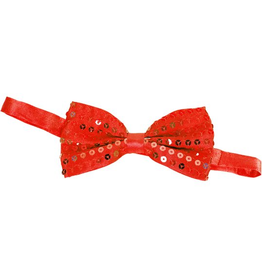 Glitter bow tie red