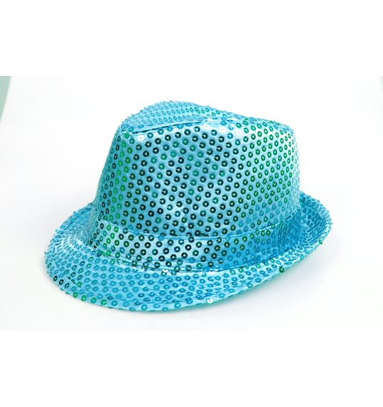 Glitter hat turquoise